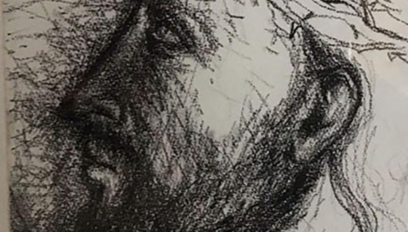 Pen drawing, mixed media